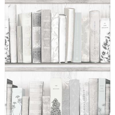 Botany Library Natural Wallpaper Sample