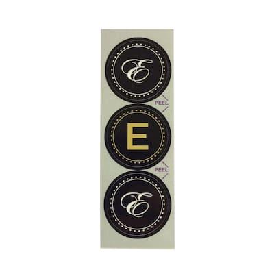E Monogram Decorative Bathroom Sink Stopper Laminates (Set of 3)