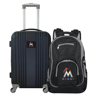 MLB Miami Marlins 2-Piece Set Luggage and Backpack