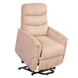 Mocha Power Lift Chair Heat with Massage for Elderly Heavy Duty and 3-Position Electric Recliner
