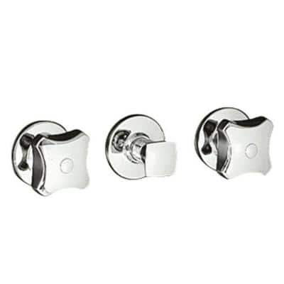 Triton Wall-Mount 3-Handle Valve Trim Kit with Standard Handles in Polished Chrome (Valve Not Included)