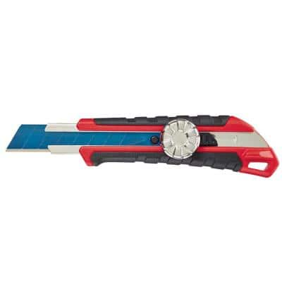 18 mm Snap-Off Knife with Metal Lock and Precision Cut Blade