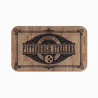 NFL Pittsburgh Steelers 18 in. x 30 in. Cork Comfort Mat