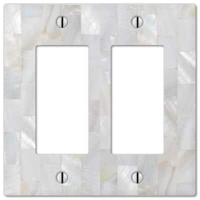 White 2-Gang Decorator/Rocker Wall Plate (1-Pack)