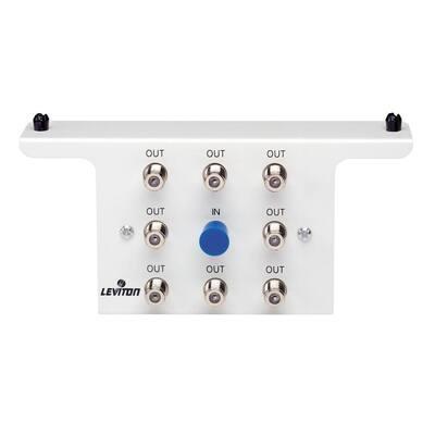 Structured Media 1x8 (8-Way) 2.05GHz White Passive Video Splitter Module