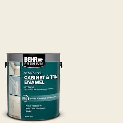 1 gal. #12 Swiss Coffee Semi-Gloss Enamel Interior Cabinet and Trim Paint
