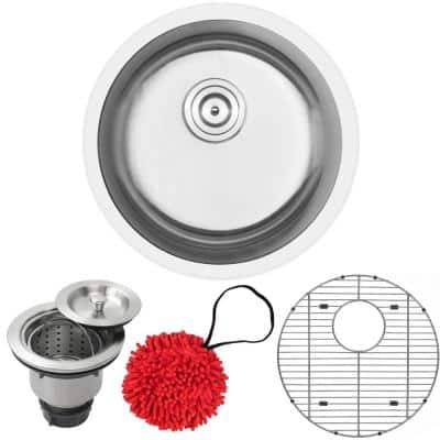Haven Dual Mount 16-Gauge Stainless Steel 18.25 in. Single Basin Kitchen and Bar Sink with Accessory Kit