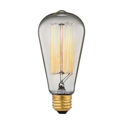 60-Watt Incandescent A19 Ogden Vintage Filament Light Bulb - Vintage Style Light Bulb