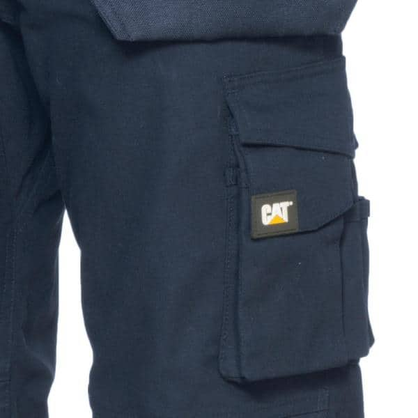 Caterpillar Trademark Men S 42 In W X 32 In L Navy Cotton Polyester Canvas Heavy Duty Cargo Work Pant C172 378 42 32 The Home Depot