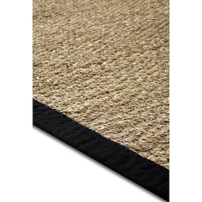 Seagrass Black 5 ft. x 7 ft. Indoor Area Rug