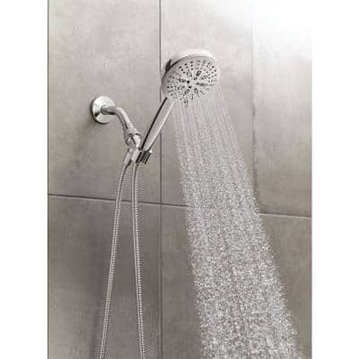 HydroEnergetix 8-Spray Patterns with 1.75 GPM 4.75 in. Wall Mount Single Handheld Shower Head in Chrome
