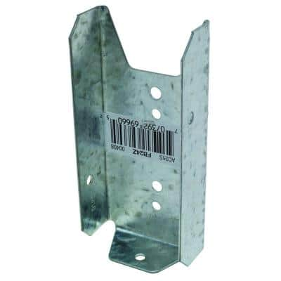 FB ZMAX Galvanized Fence Rail Bracket for 2x4 Nominal Lumber