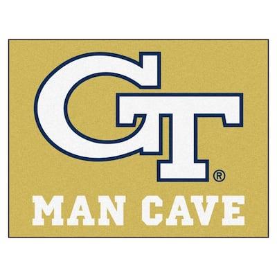 Georgia Tech Gold Man Cave 3 ft. x 4 ft. Area Rug