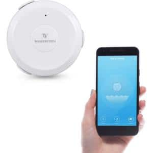 AC Powered Smart Wi-Fi Water Sensor, Flood and Leak Detector - Alarm and App Notification Alerts, Plug and Play (1 Pack)