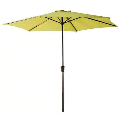 9 ft. Market Patio Umbrella in Lime Green