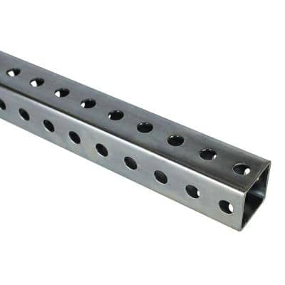1-1/2 in. x 36 in. Zinc-Plated Punched Square Tube
