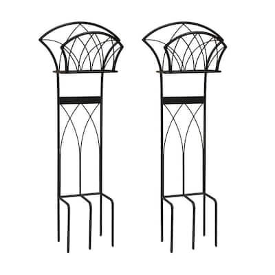 Steel Decorative Garden Hose Stand with Gothic Design (2-Pack)