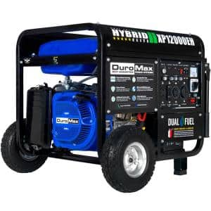 12000-Watt/9500-Watt Electric Start Dual Fuel Gas Propane Portable Generator, Home Back Up/RV Ready, 50 State Approved