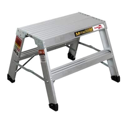Buildman 1.98 ft. x 2.2 ft. x 2 ft. Aluminum Work Platform with Load Capacity 300 lbs.