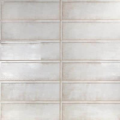 Piston Ribbed Beige 8 in. x 24 in. x 7mm Polished Ceramic Wall Tile (12 pieces / 15.49 sq. ft. / box)