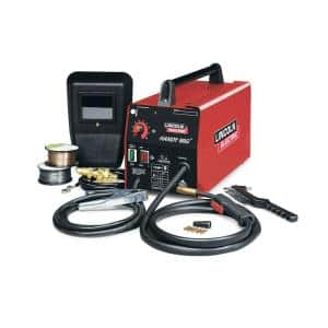 88 Amp Handy MIG Wire Feed Welder with Gun, MIG and Flux-Cored Wire, Hand Shield, Gas Regulator and Hose, 115V