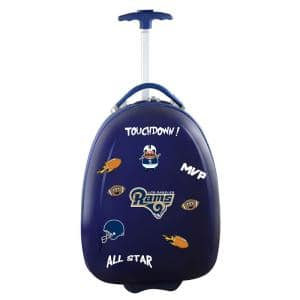 NFL Los Angeles Rams 18 in. Navy Kids Pod Luggage Suitcase
