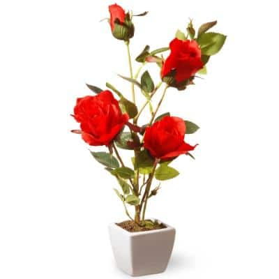 15 in. Red Rose Flower