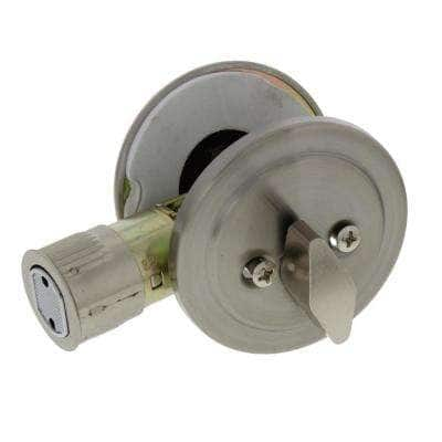 Stainless Steel Single Cylinder Deadbolt for RV and Mobile Homes