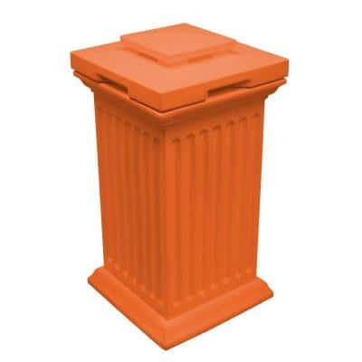 Savannah 19 in. x 19 in. x 38 in. Polyethylene Column Waste and Storage Bin in Terra Cotta