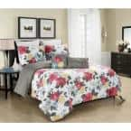 MHF Home Gretchen Multi Floral 4-Piece Twin Comforter Set