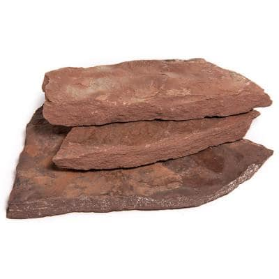 14 in. x 12 in. x 2 in. 60 sq. ft. Arizona Chocolate Natural Flagstone for Landscape, Gardens and Pathways