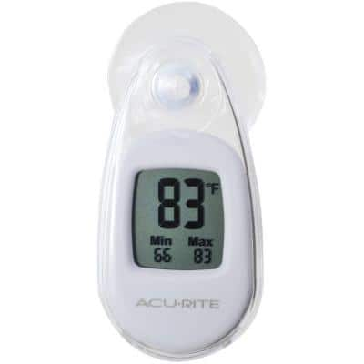 Digital Suction Cup Thermometer in White