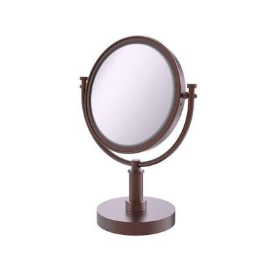 8 in. x 15 in. Vanity Top Makeup Mirror 2x Magnification in Antique Copper