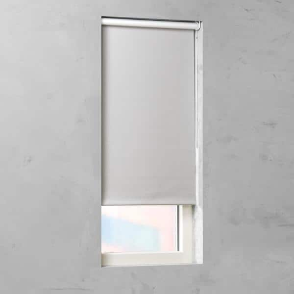 Cocoon By Coulisse Cut To Size Slate Cordless Blackout Fabric Motorized Roller Shade 48 In W X 72 In L 2010527 The Home Depot