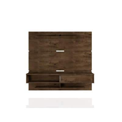 Rochester 71 in. Rustic Brown Floating Entertainment Center Fits TVs Up to 65 in. with Cable Management
