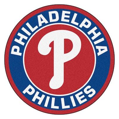 MLB Philadelphia Phillies Navy 2 ft. x 2 ft. Round Area Rug