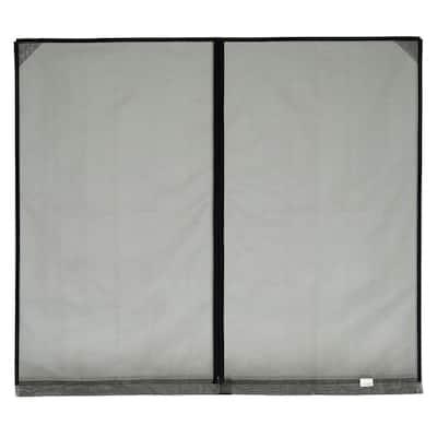 16 ft. x 7 ft. Stationary Garage Door Screen, 1 Zipper, with Mesh Rod Pocket