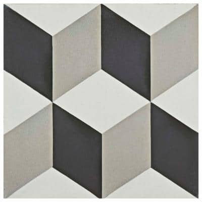Cemento Lloyd Classic Encaustic 8 in. x 8 in. Cement Handmade Floor and Wall Tile (5.51 sq. ft. / Case)