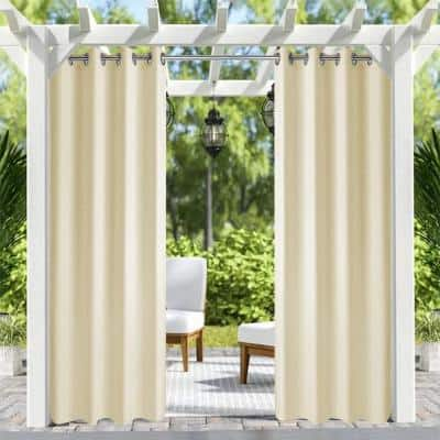 50 in. x 84 in. Indoor Outdoor Curtains Grommet Curtain (1 Panel)