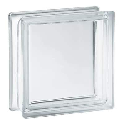 7.75 in. x 7.75 in. x 3.12 in. Clear Pattern Glass Block (10-Pack)