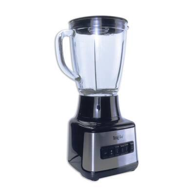 50 oz. 500-Watt 8-Speed Black Stand Blender with Glass Pitcher (1.6 Quarts/1.5 Liters)