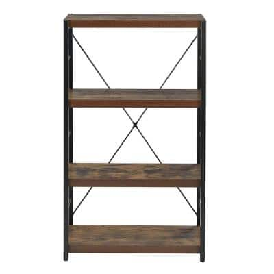 42.52 in. Amelia Veneer Weathered Oak Particle Board 1-Shelf Bookcase