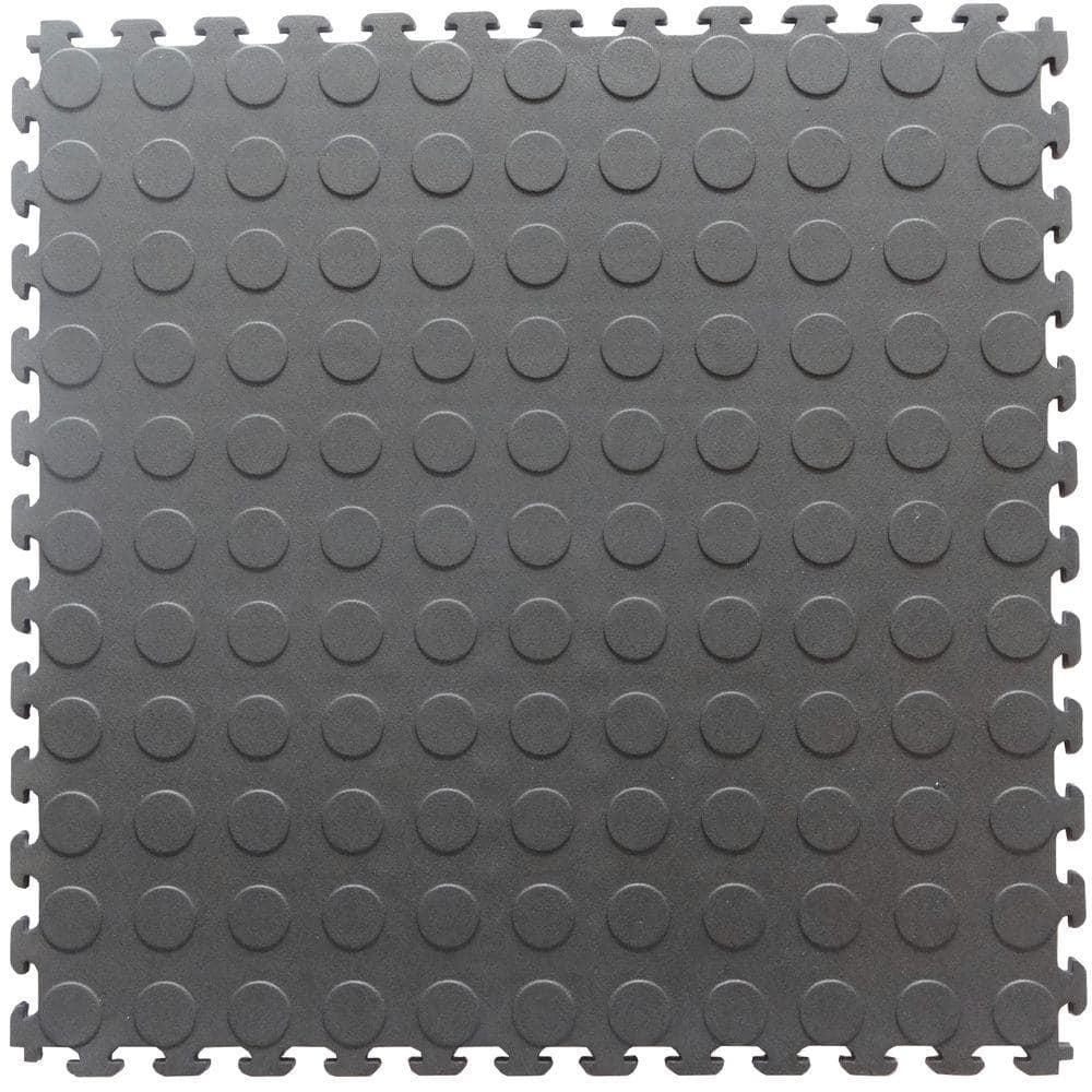 Dove Gray Pvc Garage Flooring Tile