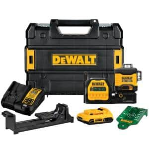 20-Volt/12-Volt Lithium-Ion Cross-Line Laser Level Kit with 2 Ah Battery, Charger and Case