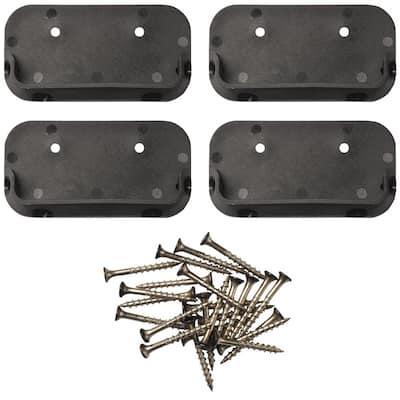 Black Horizontal Rail Bracket (4-Pack)
