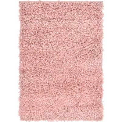 Davos Shag Dusty Rose Pink 2 ft. x 3 ft. Accent Rug