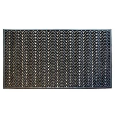 36 in. x 60 in. Commercial Rubber Scraper Mat