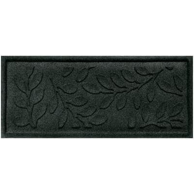 Brittany Leaf 15 in. x 36 in. Boot Tray Evergreen