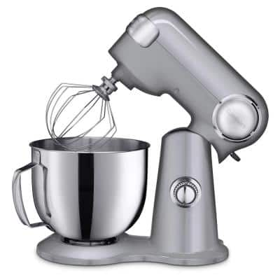 Precision Master 5.5 Qt. 12-Speed Die Cast Stand Mixer in Brushed Chrome