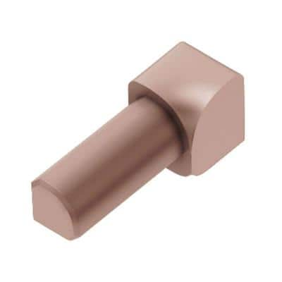 Rondec Satin Copper Anodized Aluminum 5/16 in. x 1 in. Metal 90° Inside Corner